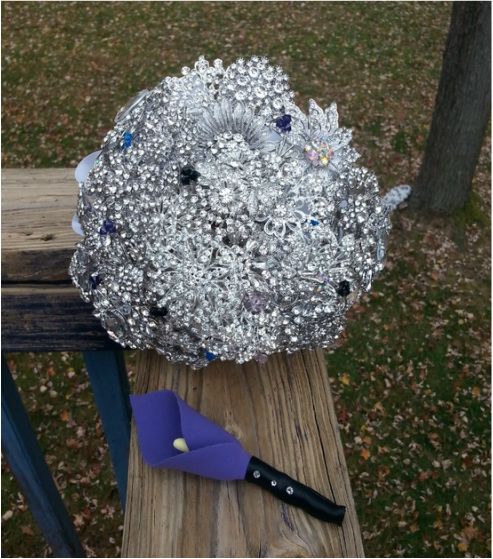 Brooch bouquet, keepsake bouquet, heirloom bouquet, sparkling bouquet, jeweled bouquet, crystal bouquet, wedding bouquet, bridal bouquet, bridesmaid bouquet, rental bouquet