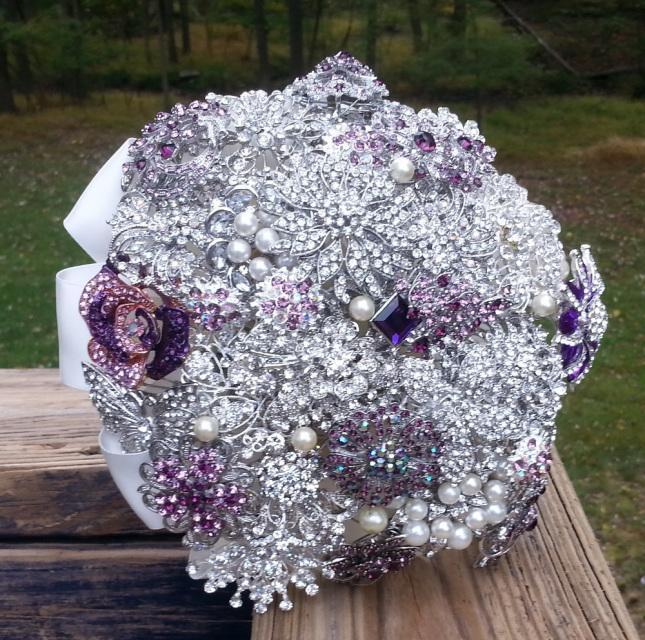 DIY Bridal Brooch Bouquet Kit - Creates a Medium - Large ...